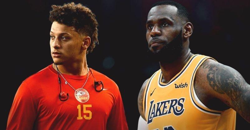 Deporte Profesional - Mahomes y LeBron James